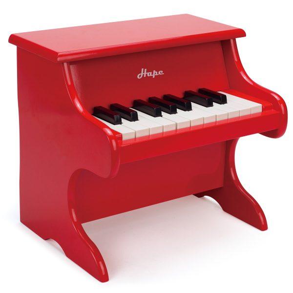 Piano vermelho para criança, da Hape