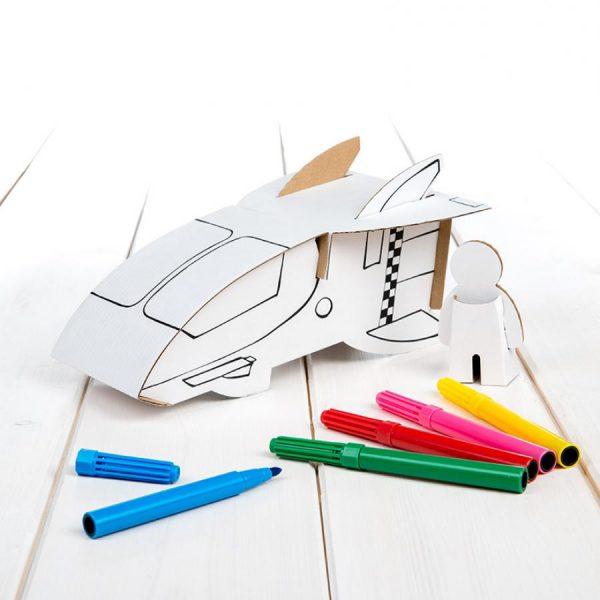 Nave espacial da Calafant, para colorir, com 6 canetas incluidas