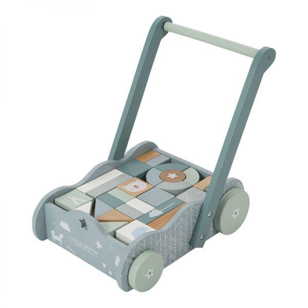 andarilho para bebés com Cubos de Construção