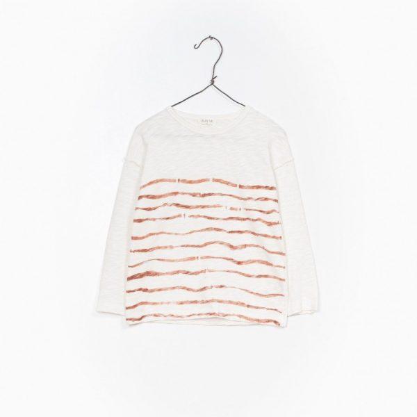 T-Shirt Manga Comprida Jersey Flamê - Camisola básica de manga comprida com riscas frontais. De manga comprida esta T-Shirt bastante leve é ideal para Verão