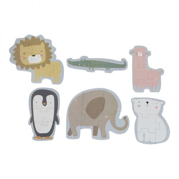 Puzzle de Animais, o Zoo, da Little Dutch