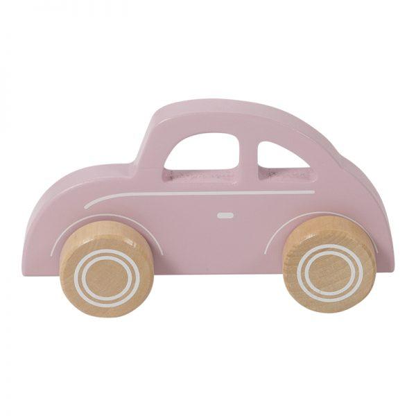 carrinho rosa de madeira