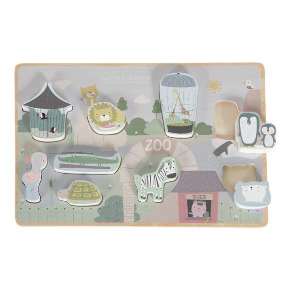 puzzle de encaixe - zoo