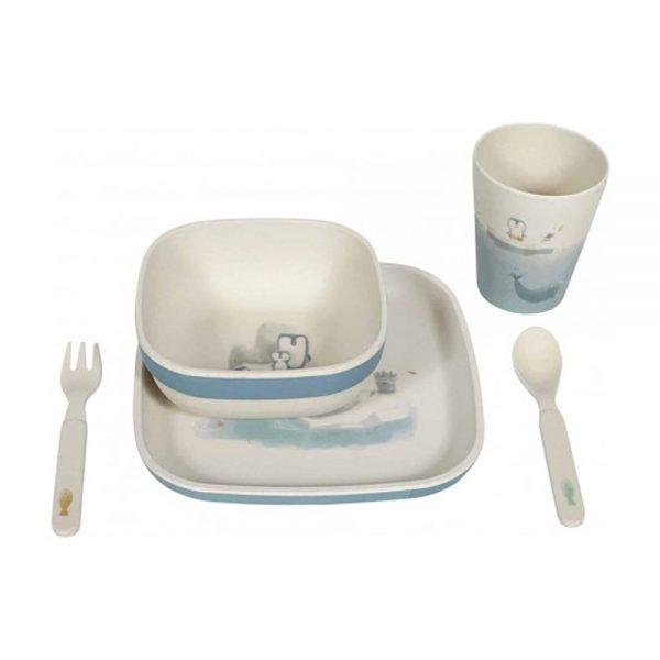 Conjunto de refeição em Bamboo Urso Polar, da Little Dutch