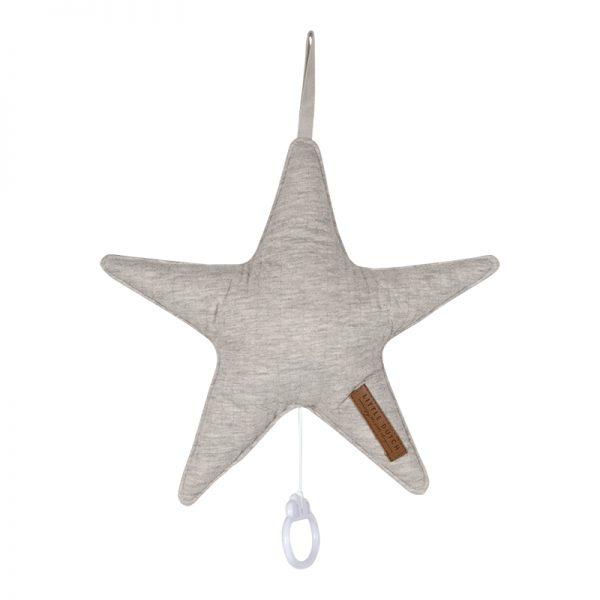 caixa de musica em forma de estrela pure grey da little dutch