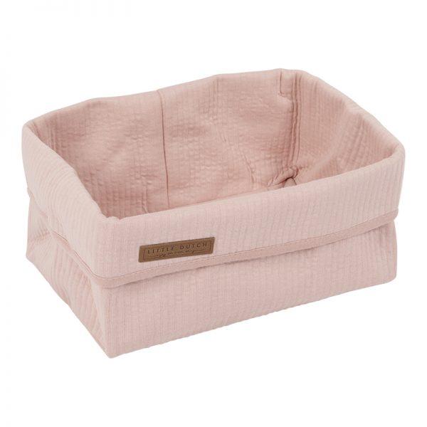 Cesto de Arrumação Pure Pink da Little Dutch