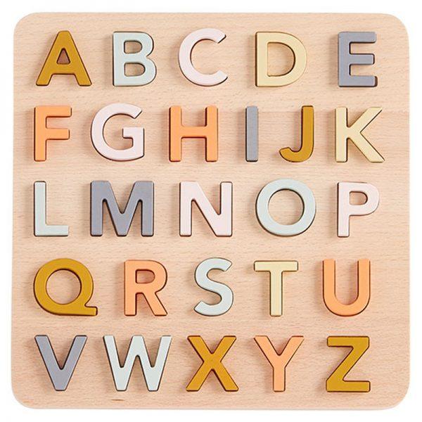 puzzle alfabeto pastel