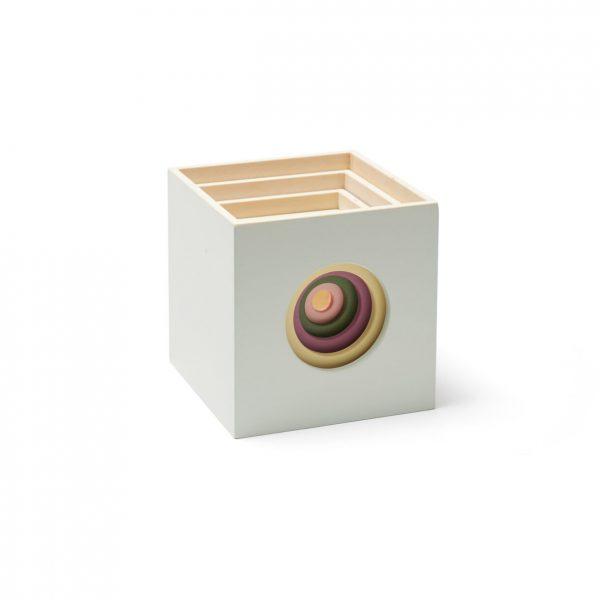 cubos de empilhar em madeira