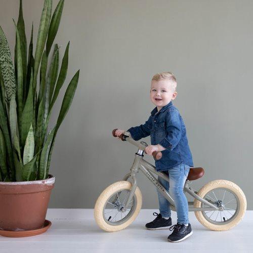 Bicicleta de equilibrio da little Dutch em Olive, verde Azeitona.