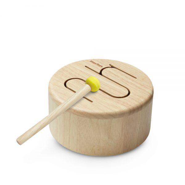 tambor de madeira natural da plantoys disponivel na EhGoom