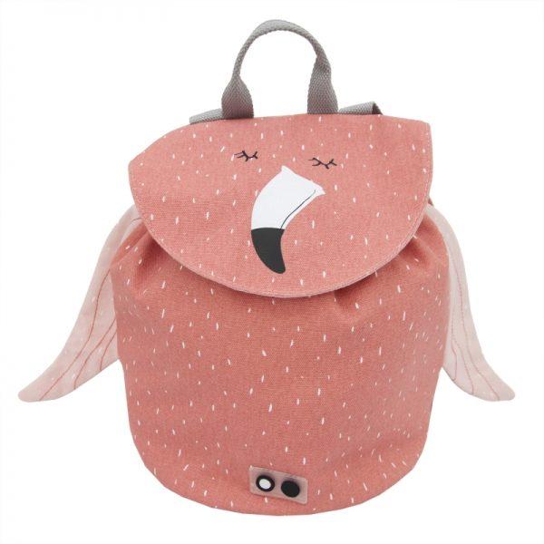 mochila mini flamingo trixie. Mini mochila para a escola flamingo