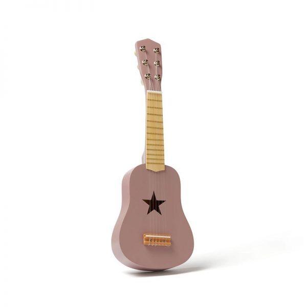 guitarra rosa da kids concept em madeira, de brincar