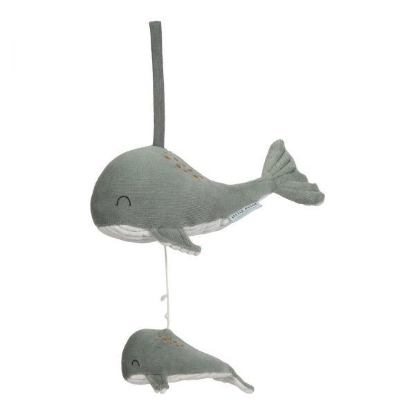 caixa de música baleia - ocean mint, da Little Dutch